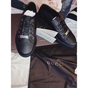 ◼️ Gucci Pebbled Nappa Low Tops ◼️